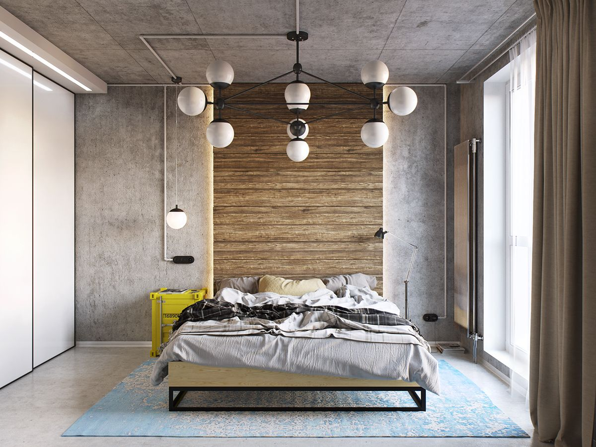 Bedroom on Behance | Industrial style bedroom, Rustic ...