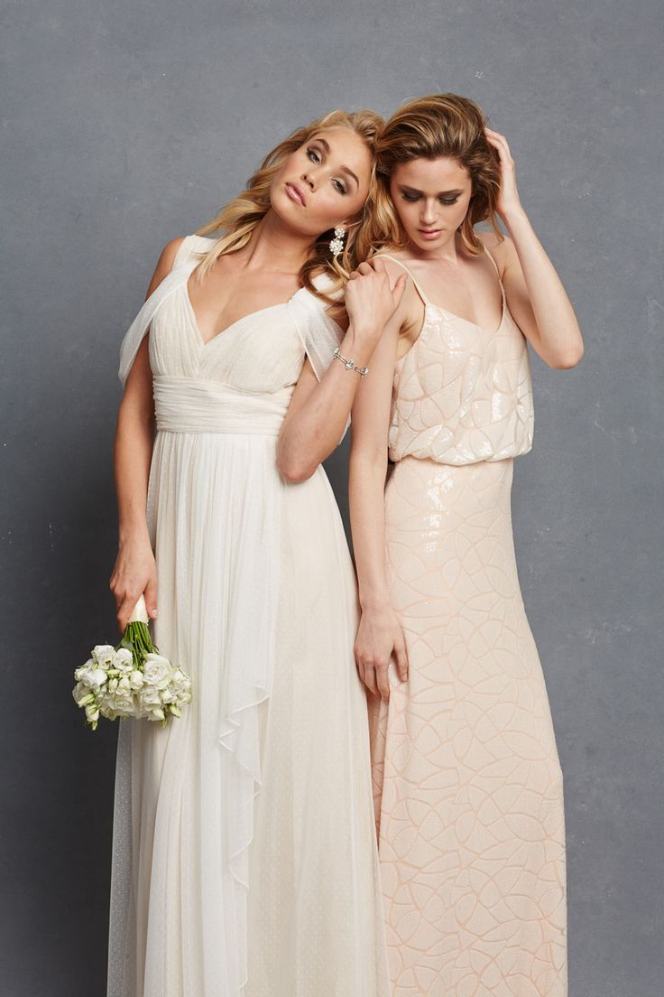 Chic romantic bridesmaid dresses to mix and match romantic