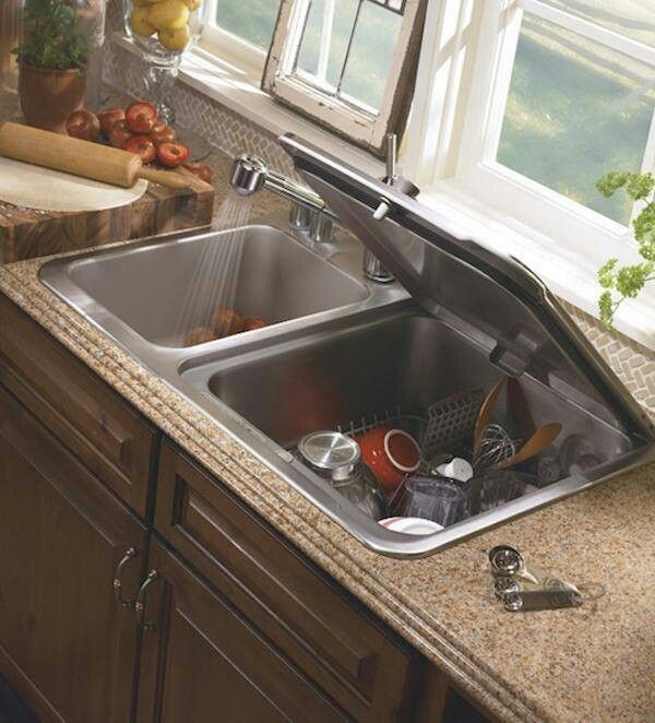 Double Duty Dish Washer Sink Space Saving Kitchen Small Kitchen