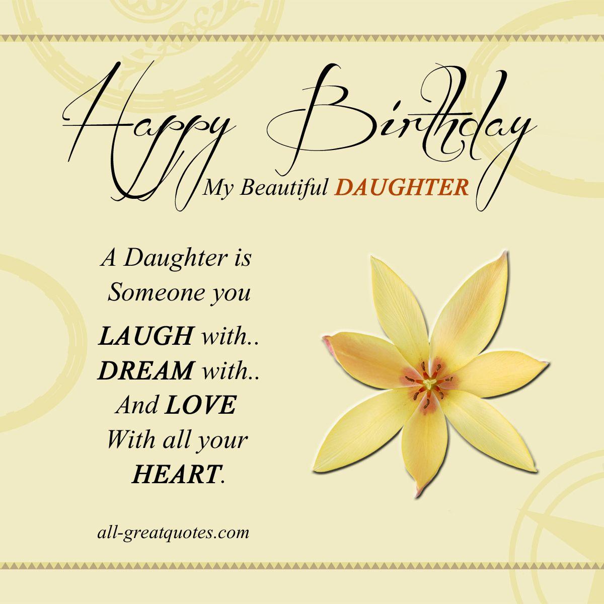 Happy Birthday To My Beautiful Daughter Birthday wishes