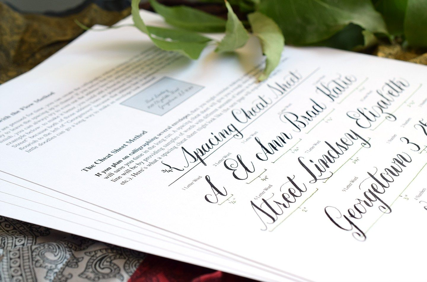 How To Space Calligraphy On Envelopes
