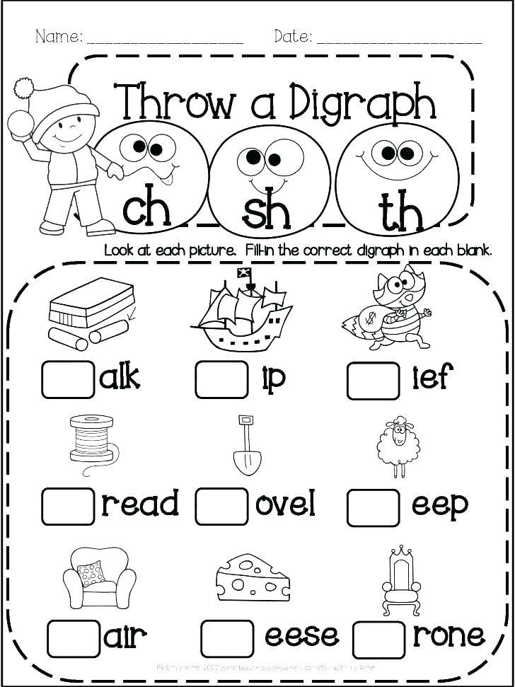 free printable vowel digraph worksheets phonics worksheets