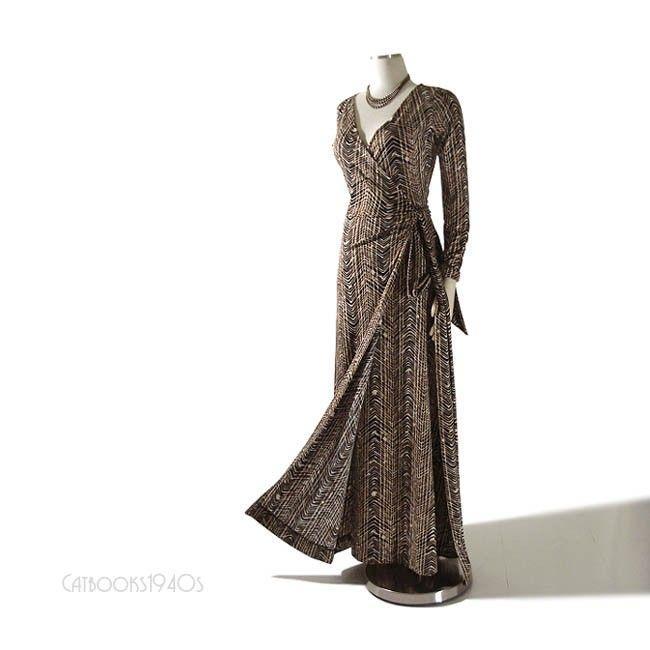 Vintage 70\'s Diane Von Furstenberg Maxi Wrap Dress S - DVF ...