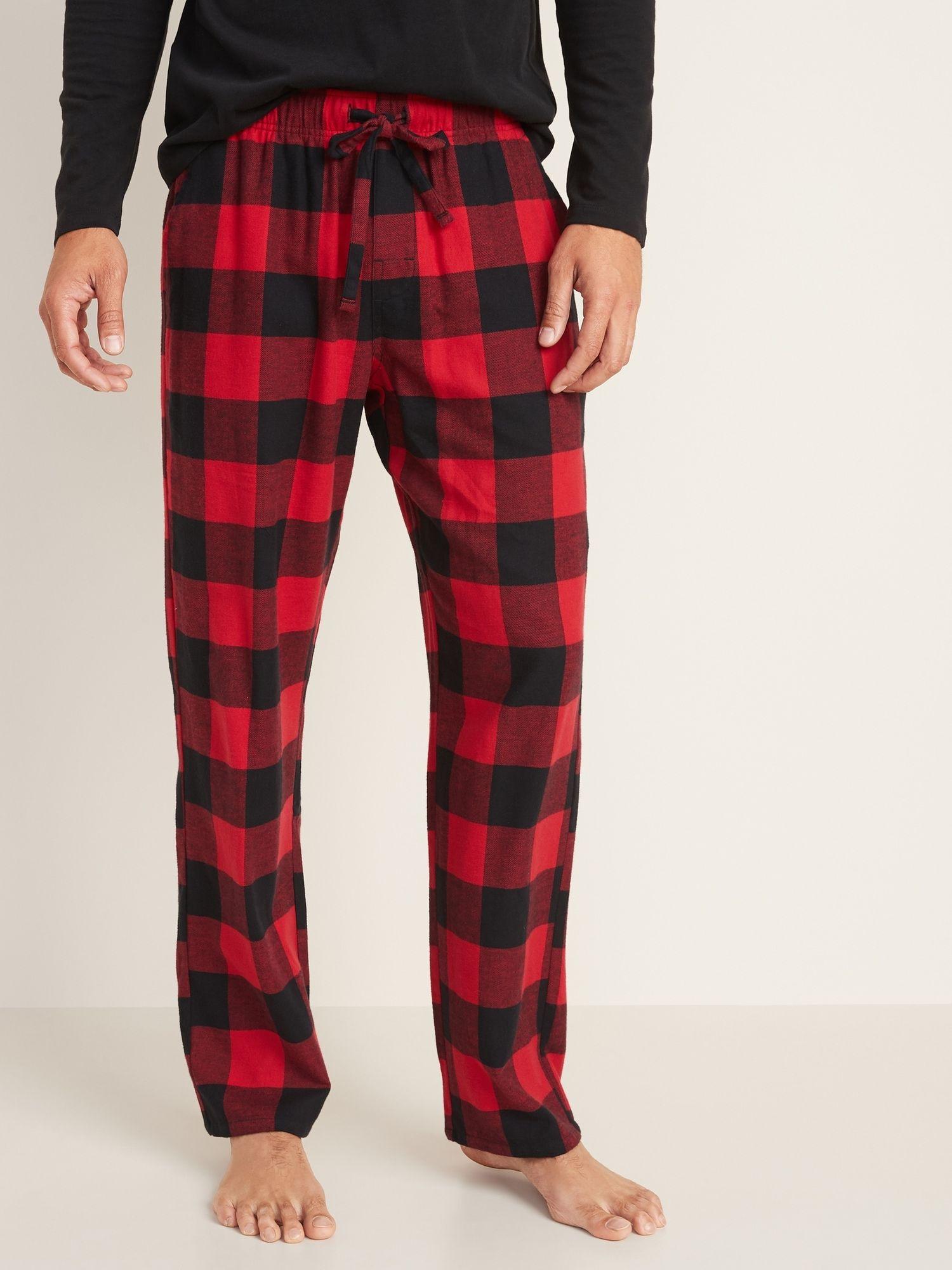 Patterned Flannel Pajama Pants for Men Old Navy