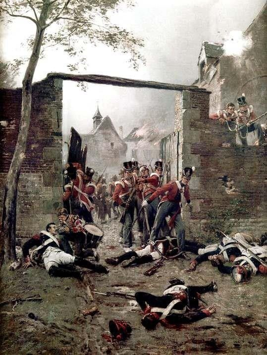 One of the finest feats of any troops during the Napoleonic wars was certainly the defence of Hougomont by the Foot Guards, Nassau & other troop detachments given the odds, and the size of the perimeter was stirling stuff!