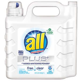All Ultra Plus Free Clear Liquid Laundry Detergent 237 Fl Oz