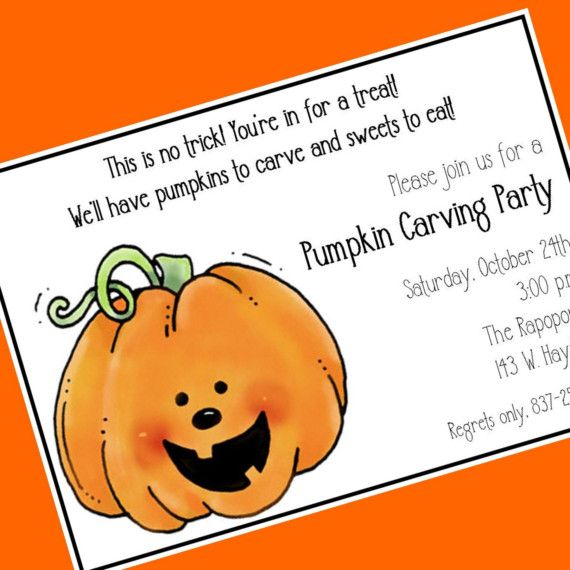 Pumpkin carving party invitation etsy cardsbycarolyn halloween pumpkin carving party invitation custom wording 12 invitations and envelopes stopboris Gallery