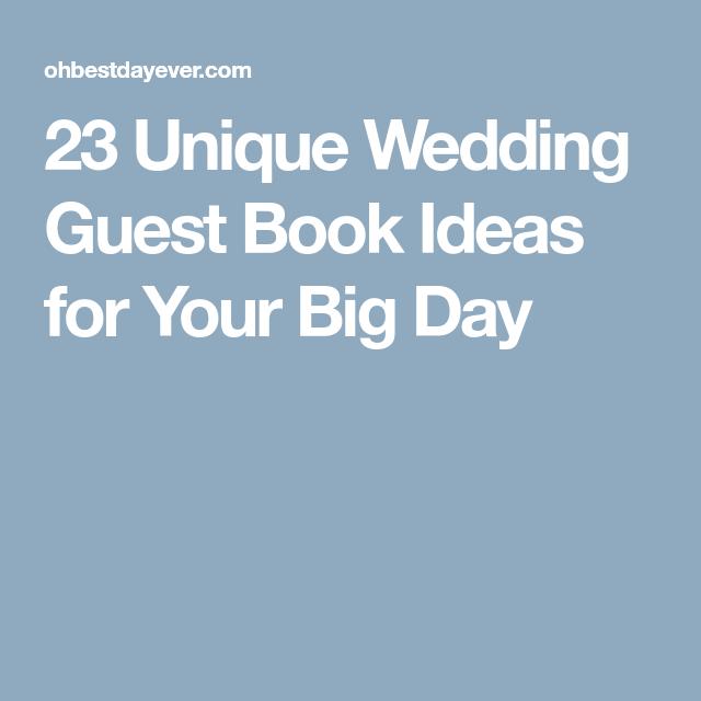 Unique Wedding Day Ideas: 23 Unique Wedding Guest Book Ideas For Your Big Day