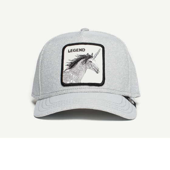 81a22e99643 Believer Grey Cotton 5 Panel Baseball hat front view