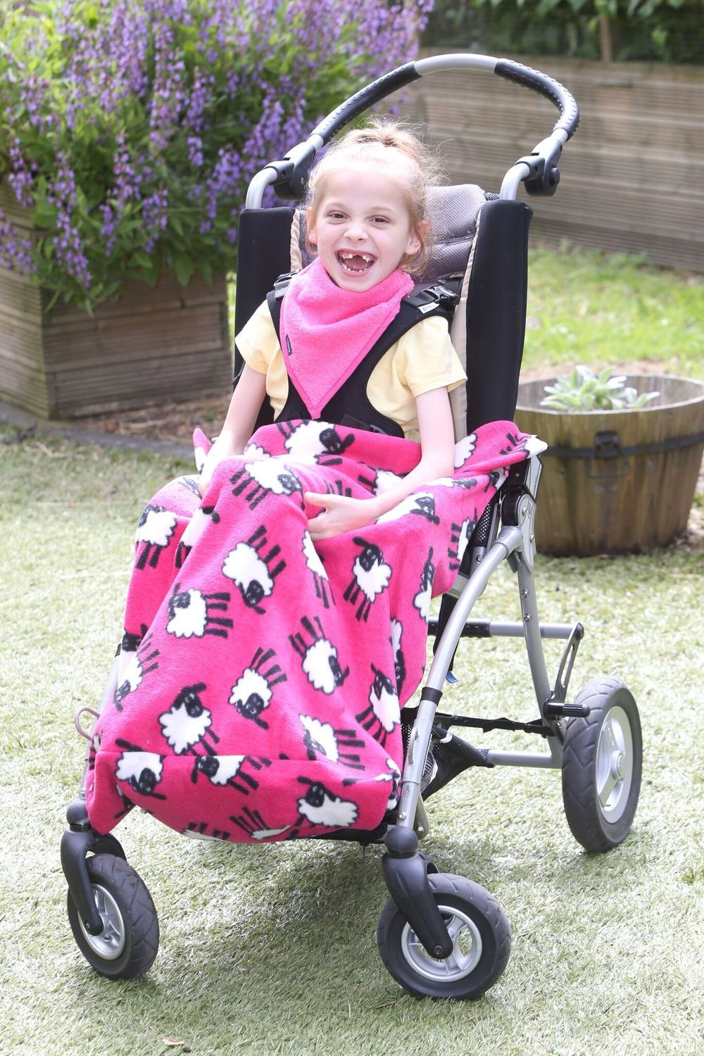 Fleece Wheelchair Leg Cover Available in Sheep Print, Teal