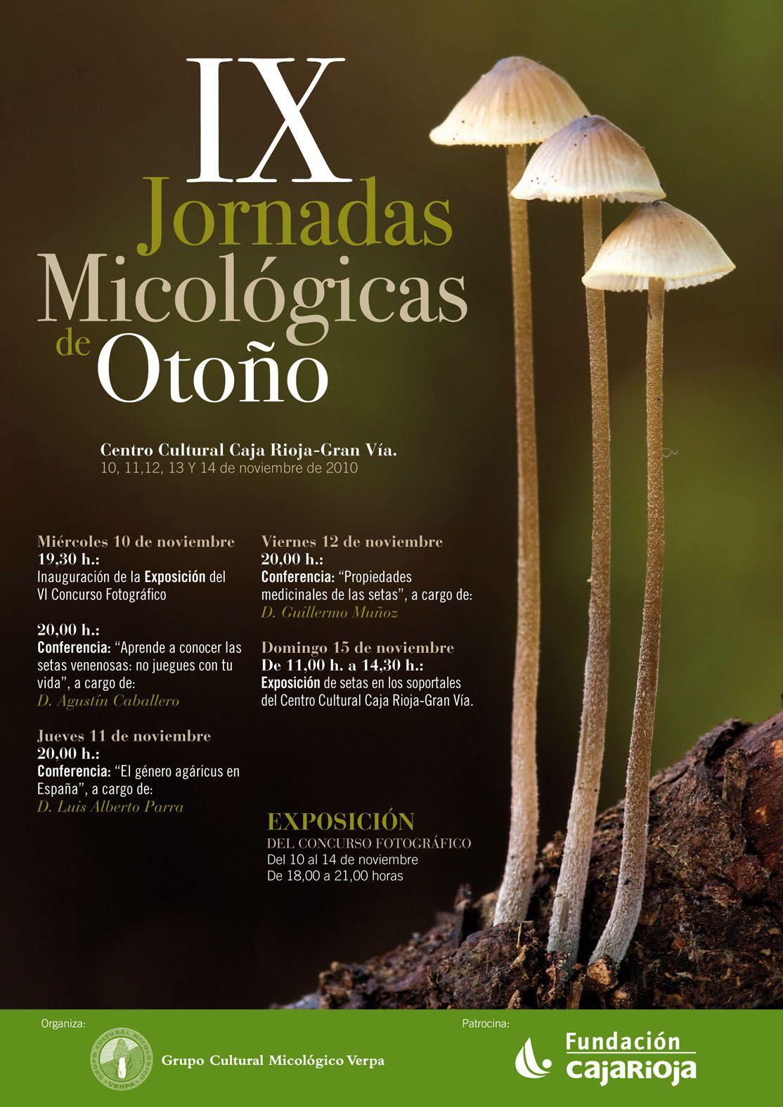 Cartel sobre unas Jornadas MIcologicas realizadas por la Fundación CajaRioja