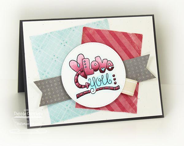 Doodled Love You card