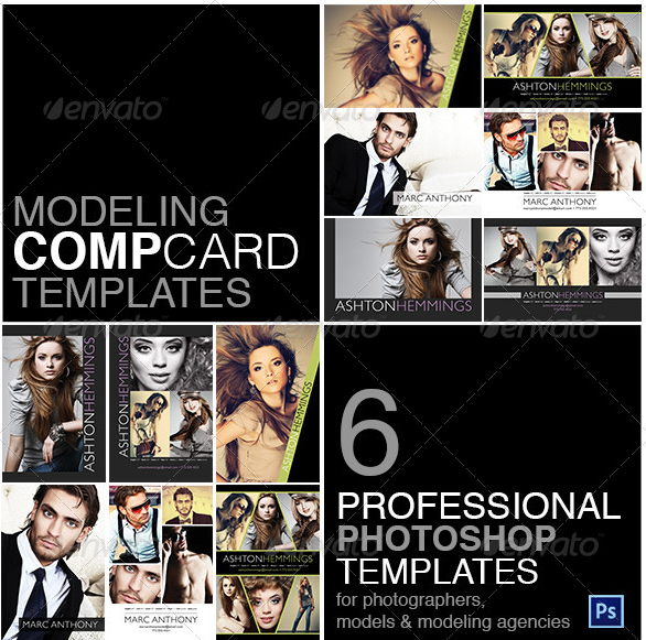 Model Comp Card Template Kit Comp Card Pinterest Model Comp - Model comp card template