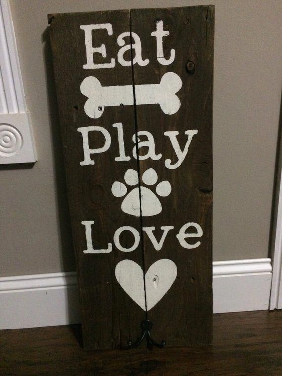 Wooden Signs With Sayings Dogs