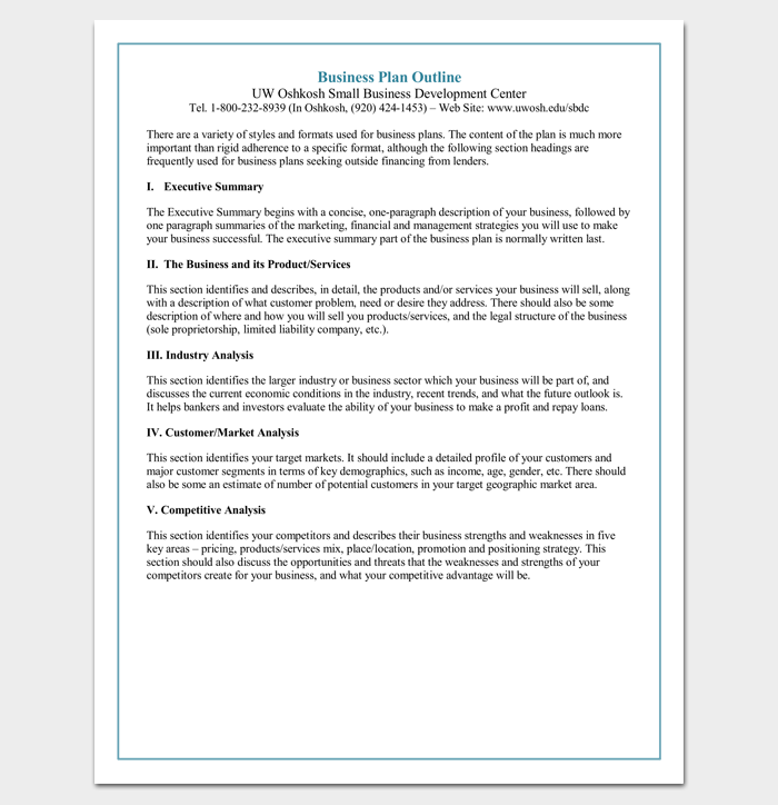 Simple Marketing Plan Outline  Outline Templates  Create A