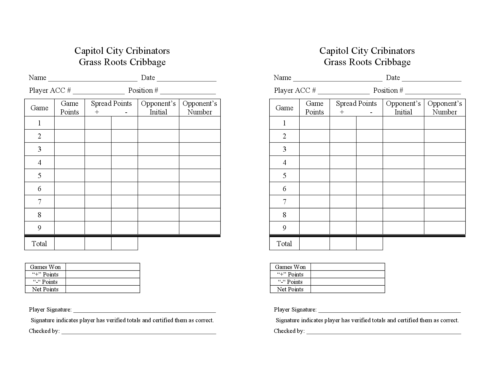 Cribbage Score Sheet Edited  Printable
