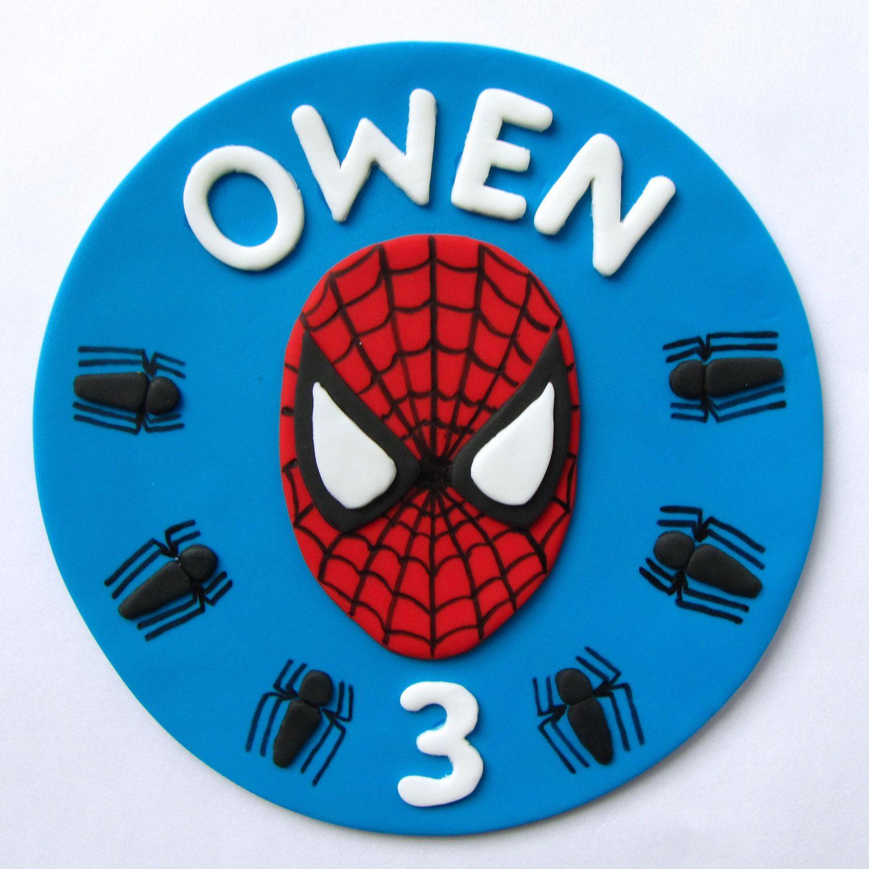 Fondant Cake Topper Spiderman. 19.99, via Etsy