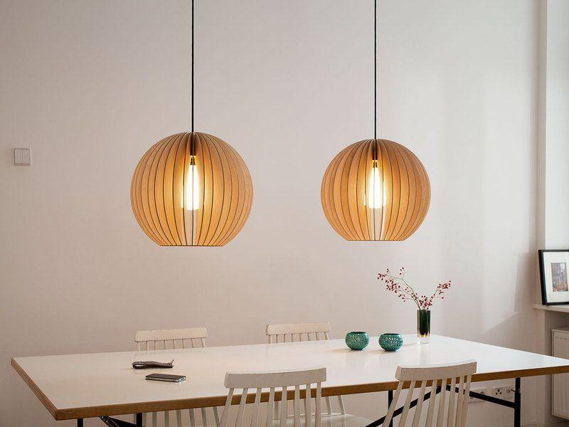 AION L Pendelleuchte aus Birkenholz Lampen aus holz, Design - lampen wohnzimmer design