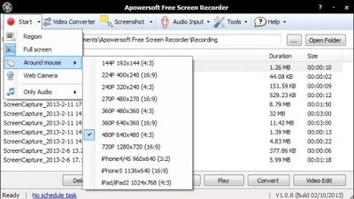 blueberry screen recorder+serial