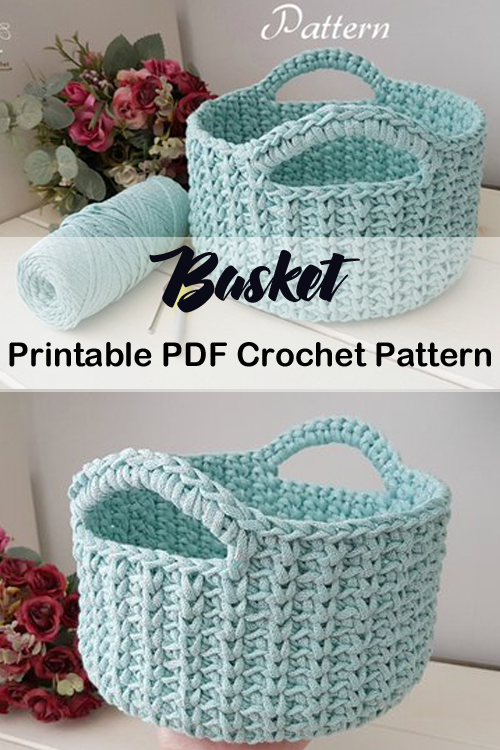 Storage Basket Crochet Patterns - Get Organized - A More Crafty Life