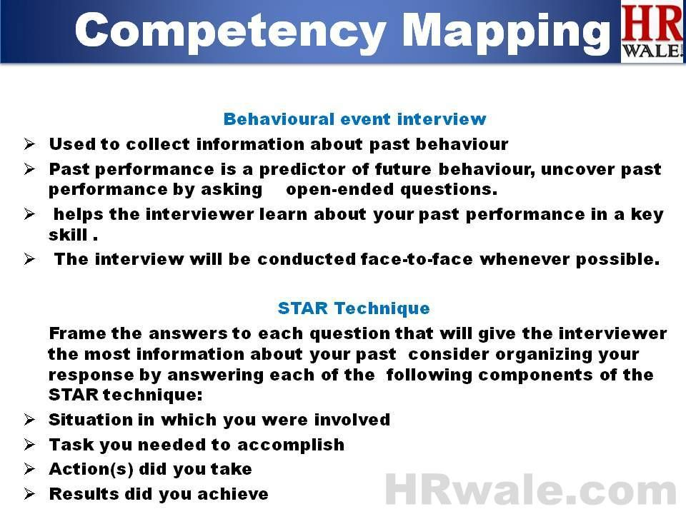 objectives of competency mapping