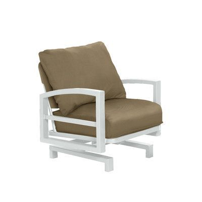 Tropitone Lakeside Action Patio Chair With Cushions Patio Chairs Chair Furniture