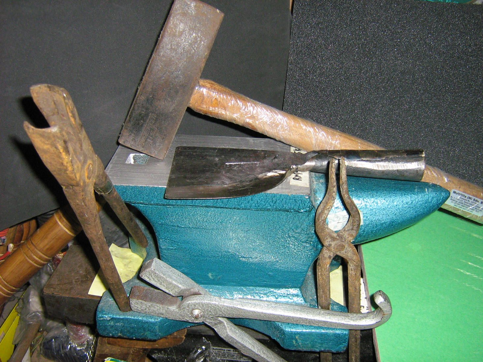 blacksmith supplies tongs anvils borax flux furnace materials