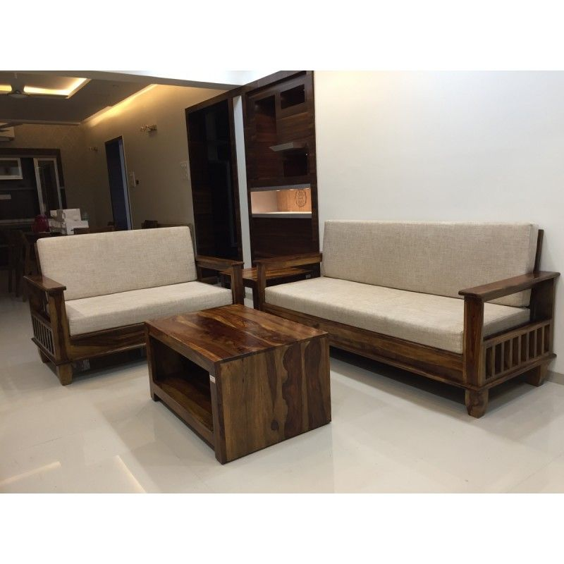 Wooden Sofa Set 3 1 1 Polo Wooden Furniture Online In 2020 Wooden Sofa Designs Living Room Sofa Design Wooden Sofa Set Designs
