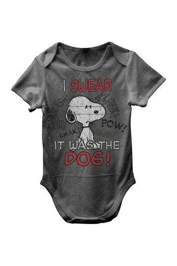 Snoopy I Swear It Was the Dog Bodysuit Baby Boys by