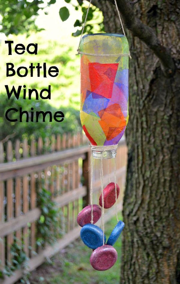 Tea Bottle Wind Chime | DIY Ideas | Wind chimes craft, Wind chimes