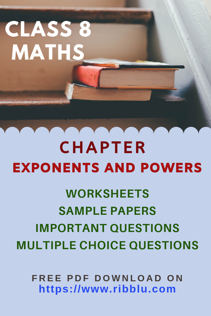 Cbse Class 8 Maths Exponents And Powers Worksheets Sample Papers And Important Questions Math Practice Worksheets Question Paper Math [ 1102 x 735 Pixel ]
