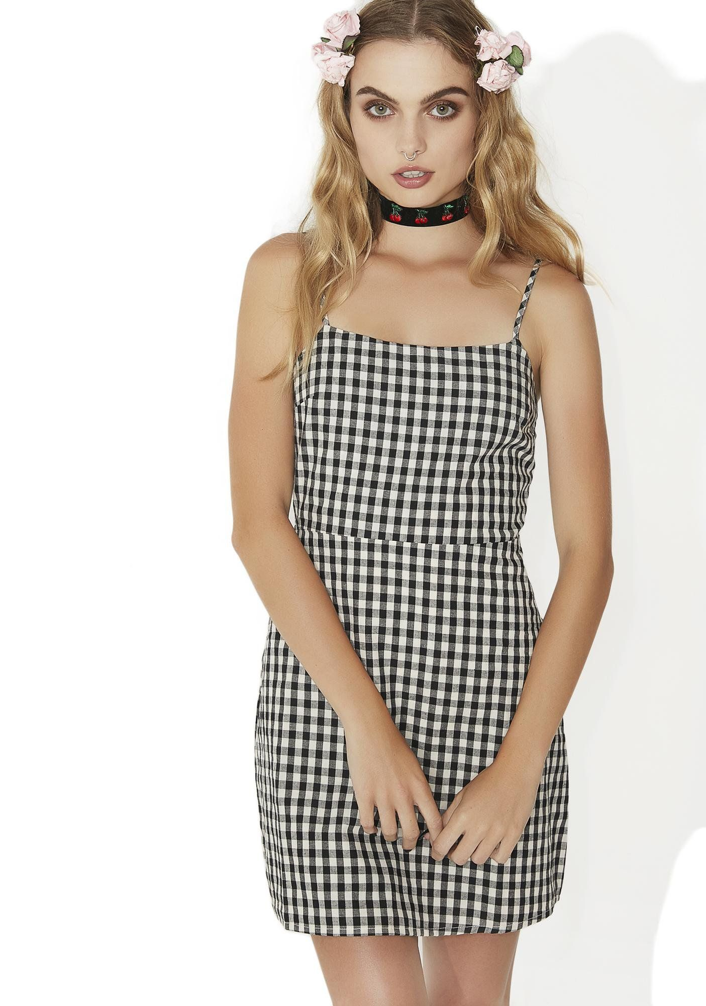 e59955bdbea7 Totally Buggin' Checkered Mini Dress will give ya those Clueless vibez...but
