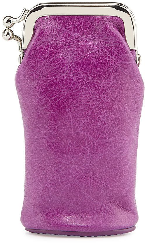 Hobo Rae Leather Lipstick Case, Violet