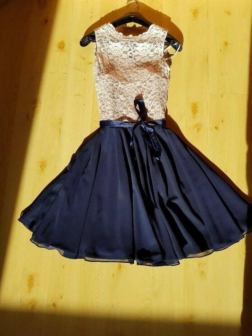 Kleid Festlich Cocktailkleid Grosse 34 Blau Mit Mauvefarbener Spitze Festliche Kleider Ideas Of Festliche Kleider Festliche Fashion Cocktail Dress Dresses