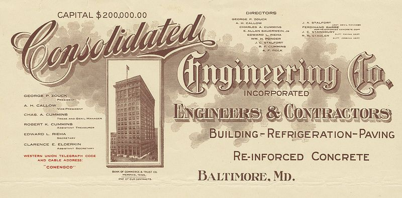Consolidated engineering co baltimore maryland 1914 a