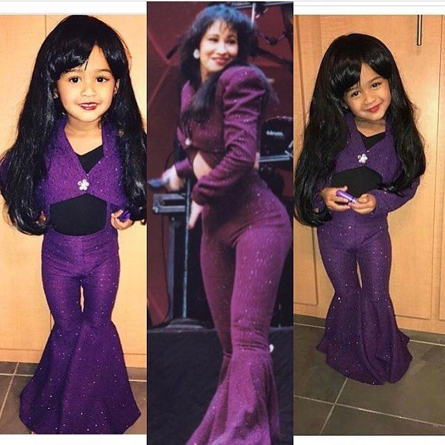 0ce989d82 Chris Brown's daughter Royalty as Selena for Halloween is adorable ...