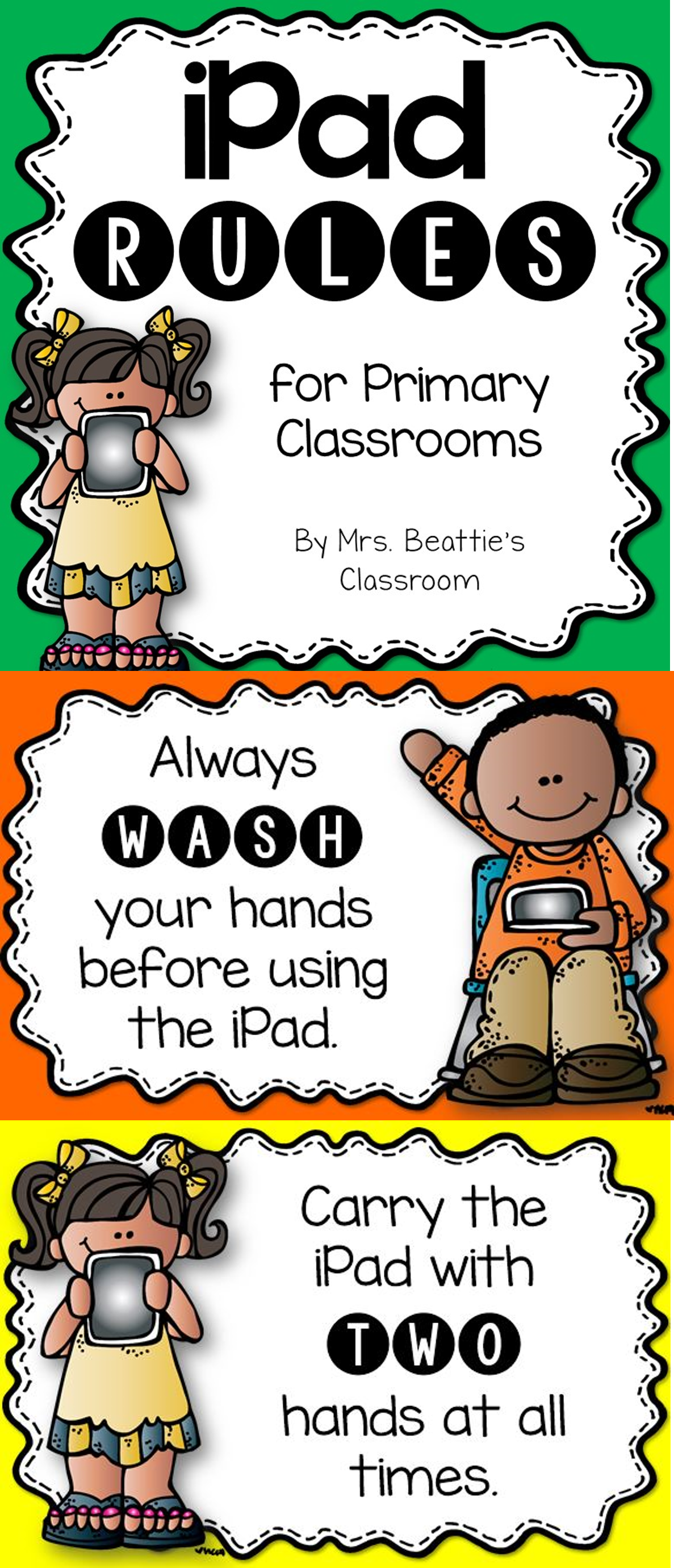 Have An Ipad In Your Classroom Grab These Free Ipad Rules