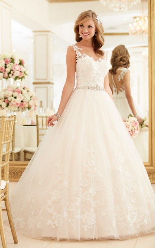 lace and tulle ball gown wedding dress - stella york | vestidos de