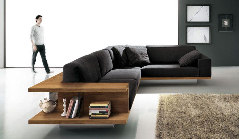 zen sofa, stylish and ergonomic black sofa by alf-dafre Living - design sofa moderne sitzmobel italien