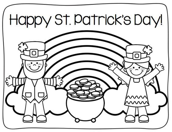 Printable Coloring Pages St Patrick Day Activities St Patricks Day Crafts For Kids St Patrick S Day Crafts