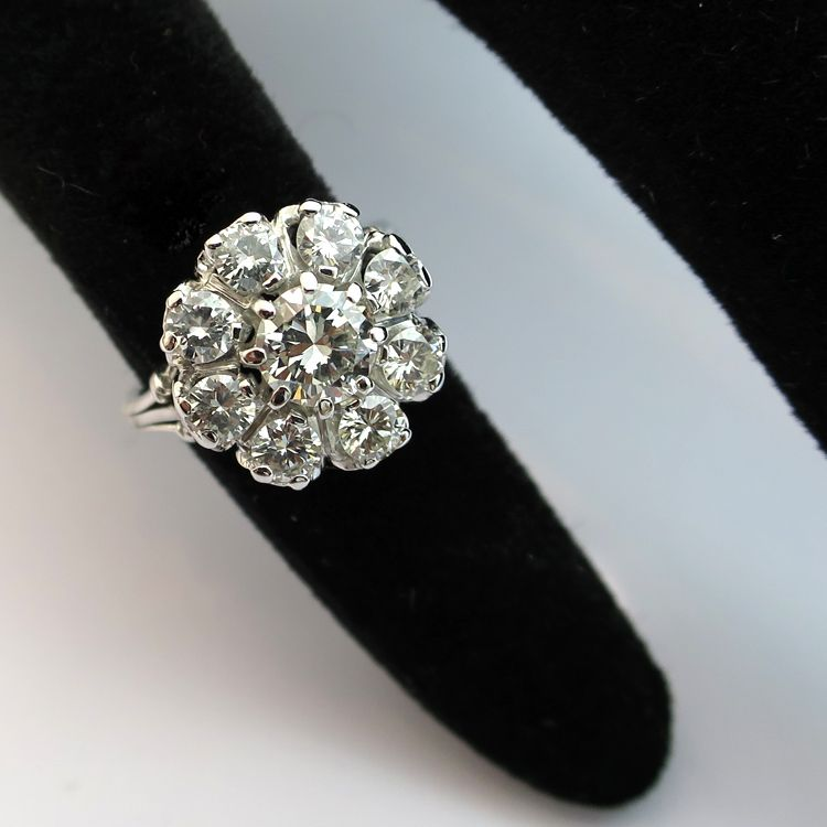 bague diamant marguerite