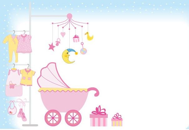 Cute Baby Design Elements Vector Graphic Set 04 Baby Shower Nina Baby Wallpaper Baby Design