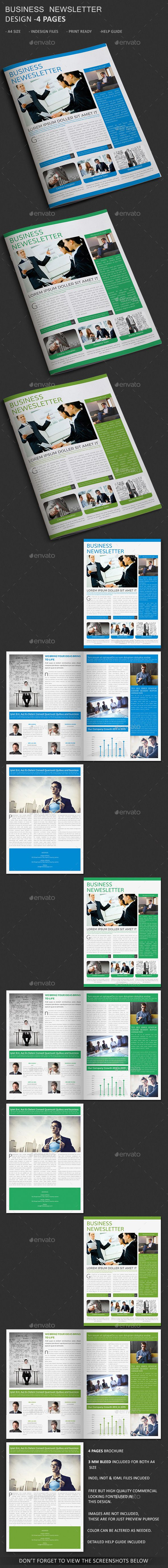 Business Newsletter Template Pages Newsletter Templates - 4 page newsletter template