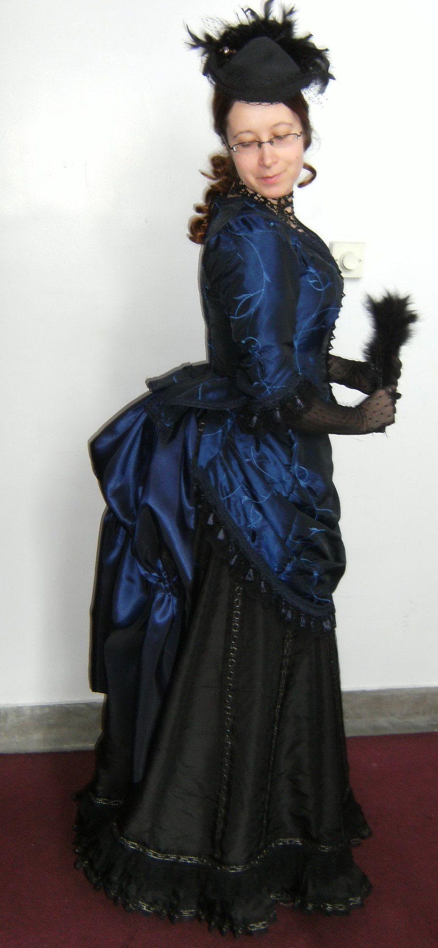 Victorian Bustle Dress Side By Numberjumble Deviantart On