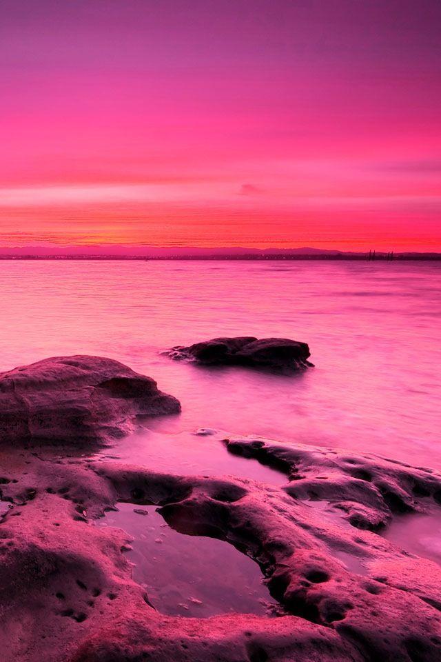Pink Skies Pink Sunset Pink Sky Pink Ocean
