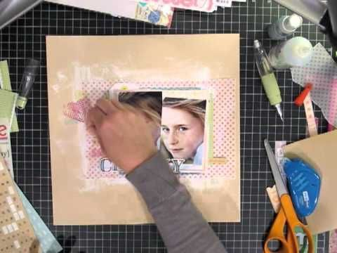 The Layered Scrapbook Page A Video Tutorial by Corrie Jones for