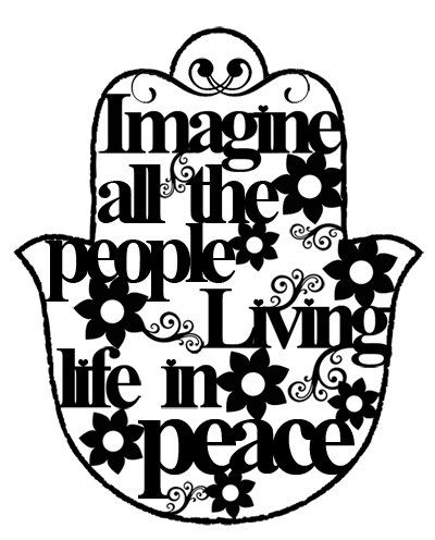 Imagine all the people living life in PEACE by