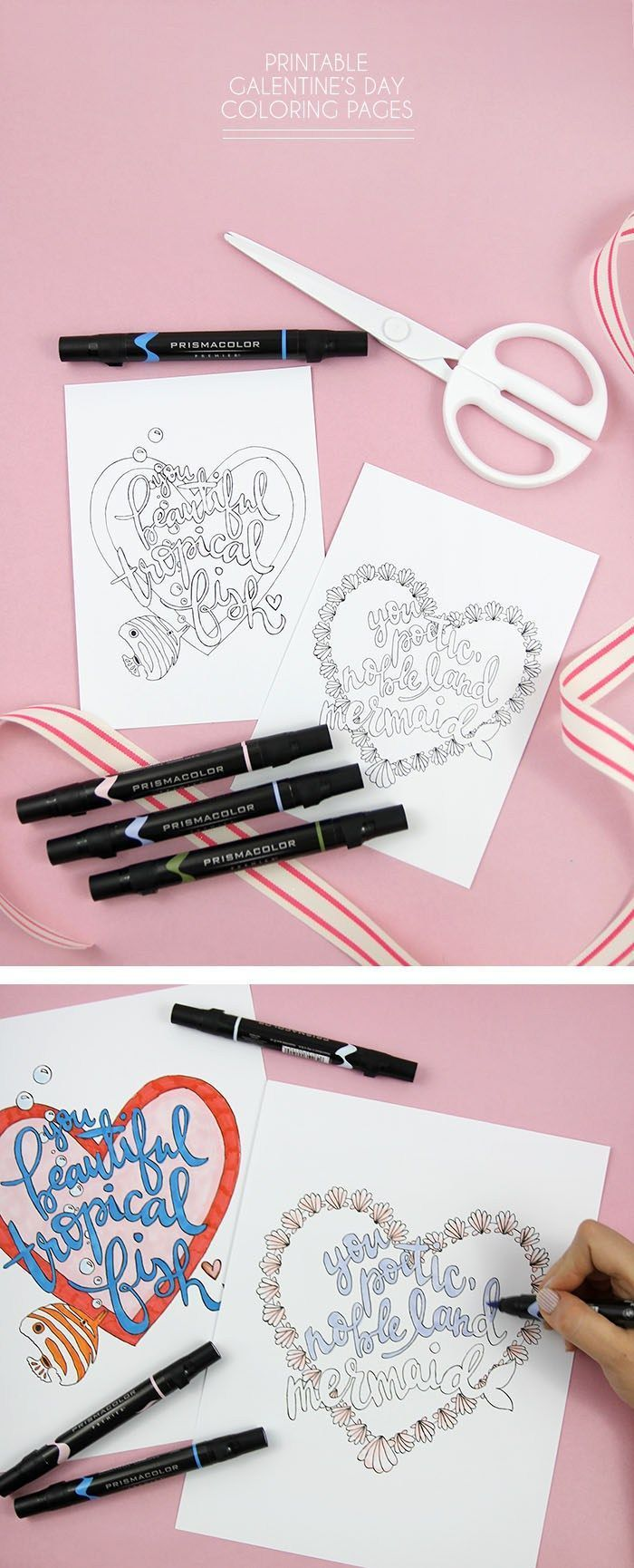 Printable Galentine S Day Coloring Pages Crafting Tutorials To Try