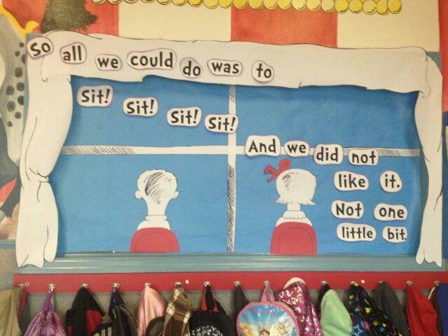 Classroom Decor Ideas For Preschool ~ Dr seuss window decoration school things pinterest
