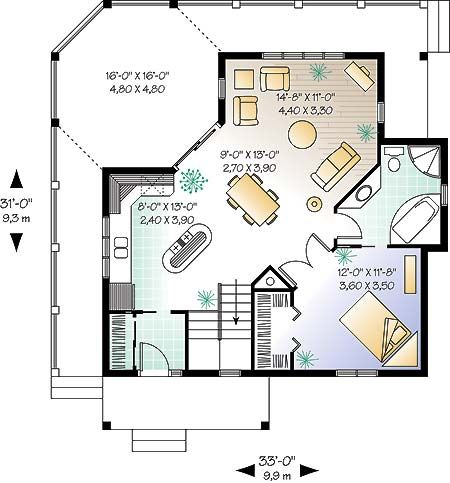 House Plan Chp 10500 At Coolhouseplans Com Cabin Floor Plans House Plans Cabin House Plans